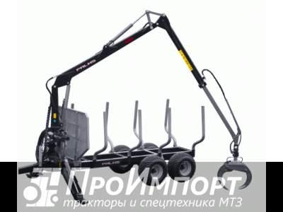 Лесовозный прицеп-манипулятор тракторный Palms 10D полуприцеп-сортиментовоз