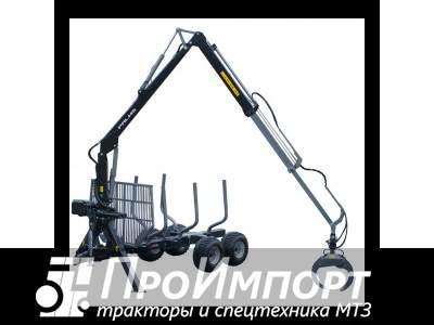 Лесовозный прицеп-манипулятор тракторный Palms 9S полуприцеп-сортиментовоз