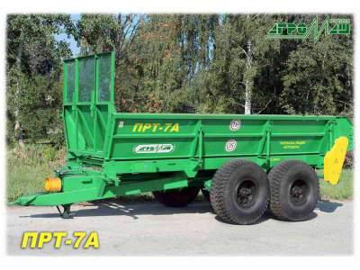 Машина для внесения твердых органических удобрений прицеп для навоза ПРТ-7А
