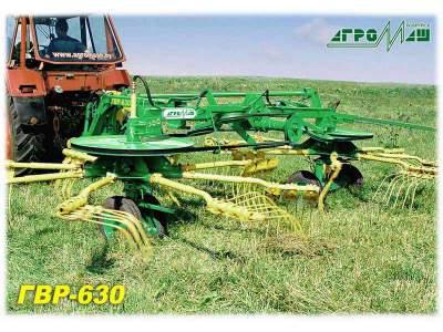 Грабли-ворошилки колесные прицепные роторные ГВР-630 Новые